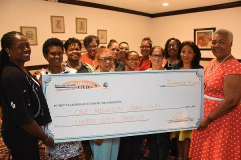 WLI Gives J$1M to United Way of Jamaica